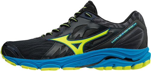 Mizuno Wave Inspire 14 Laufschuhe Running  45 EUOmbre Blue/Safety Yellow/Diva Blue